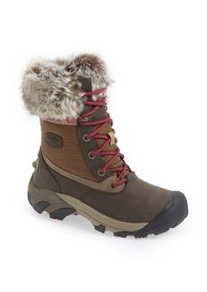 Keen 'Hoodoo III Low' Faux Fur Trim Waterproof Boot (Women)