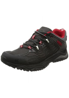 KEEN Men's Aphlex Waterproof Hiking Shoe black/Tango  M US
