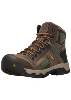 Keen Utility Men's Davenport Mid All Leather Waterproof Industrial and Construction Shoe  8 2E US