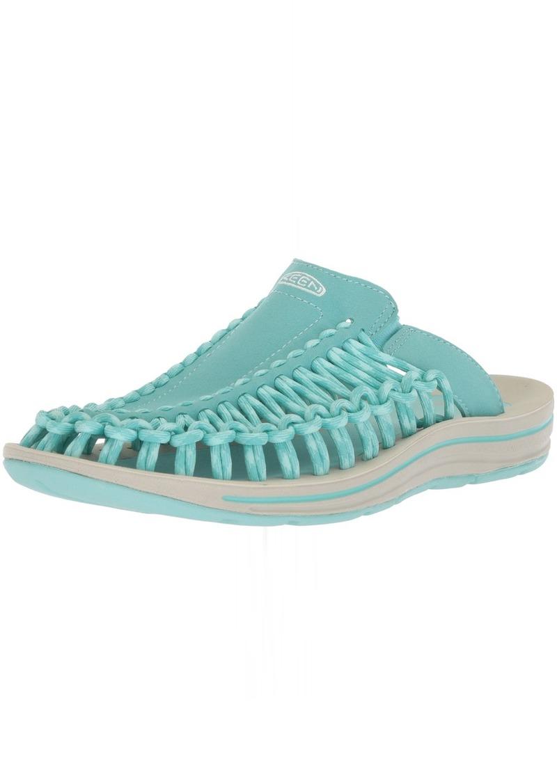KEEN Women's Uneek Slide-W Sandal Aqua sea/Pastel Turquoise  M US