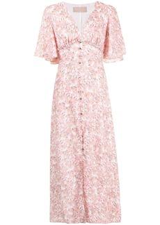 Keepsake Blaze floral-print midi dress