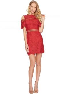 Keepsake Butterfly Mini Lace Dress
