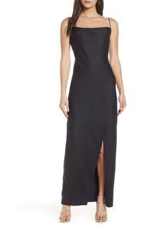 Keepsake Curious Satin Jacquard Maxi Dress