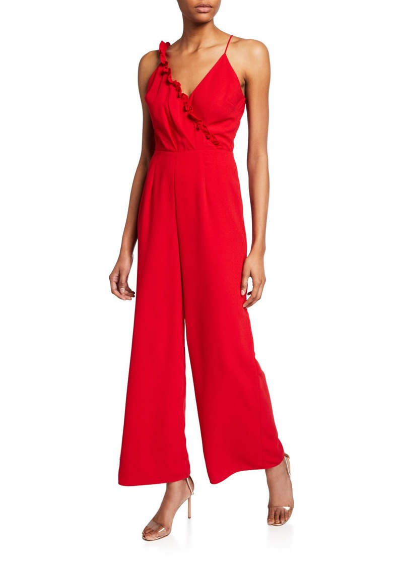 Keepsake Forget You Sleeveless Ruffle-Trim Jumpsuit