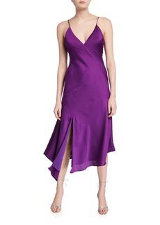 Keepsake Infinity V-Neck Midi Slip Dress  Purple