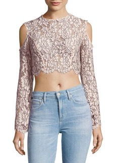 Keepsake Adorn Lace Cold Shoulder Top