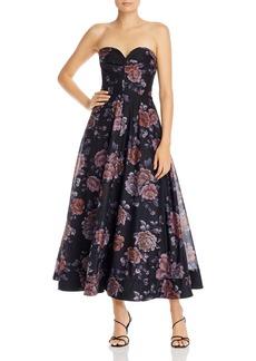 Keepsake Atomic Floral-Print Gown