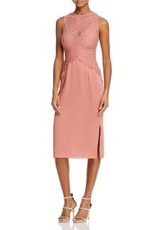 Keepsake Be the One Lace-Bodice Midi Dress