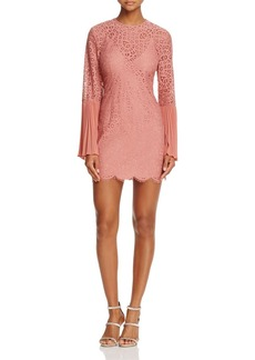 Keepsake Be the One Long-Sleeve Lace Mini Dress