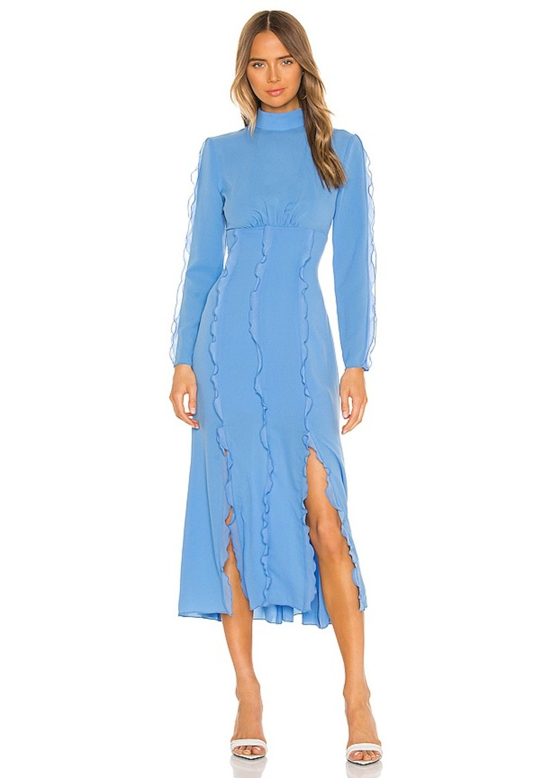 keepsake Beloved Long Sleeve Midi Dress