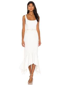 keepsake Belted Uptown Midi Dress