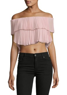 Keepsake Boxy Pleated Georgette Top