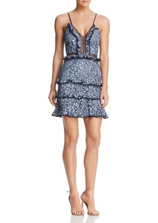 Keepsake Catch Me Lace Mini Dress