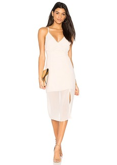 keepsake Come Around Dress in Blush. - size M (also in S,XXS, XS)