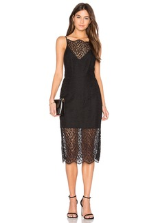 Keepsake Day Dream Lace Midi Dress