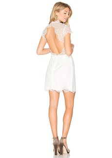 keepsake Daydream Lace Mini Dress in White. - size L (also in M,S,XS)
