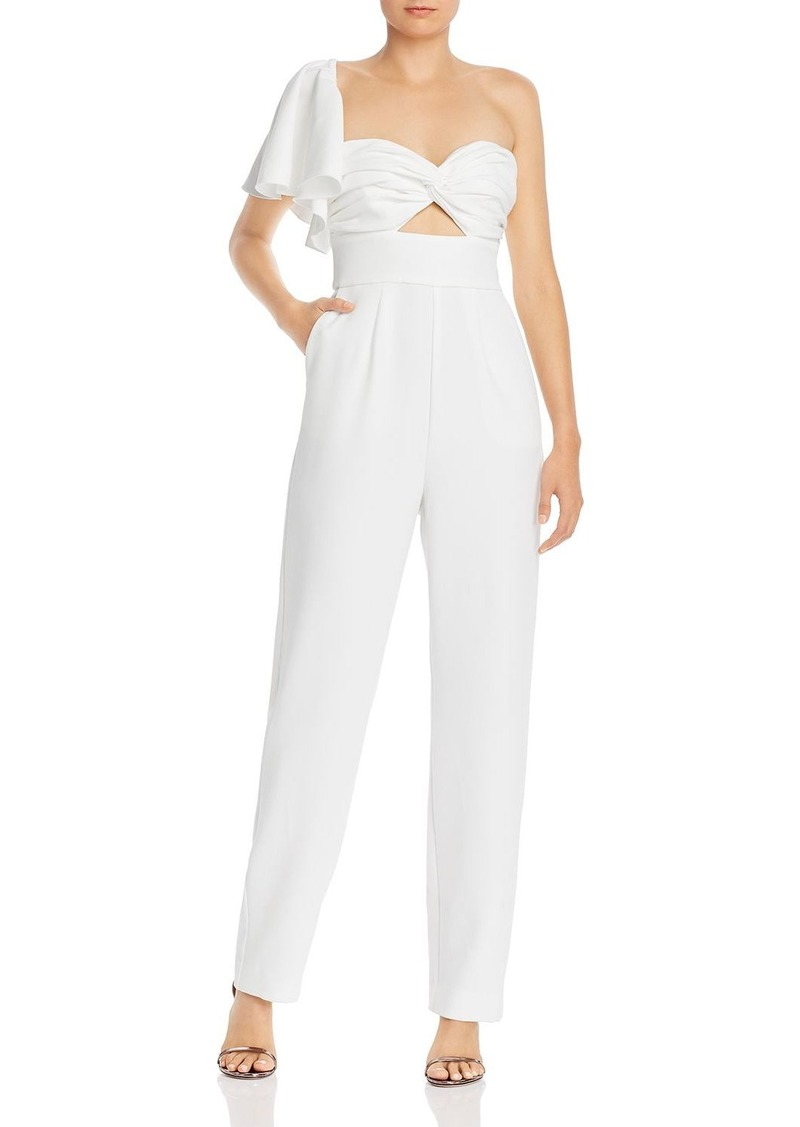 Keepsake Delight One-Shoulder Jumpsuit