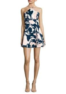 Keepsake Electric Dreams Printed Halterneck Dress