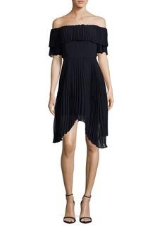 Keepsake Embrace Off Shoulder Knee-Length Dress