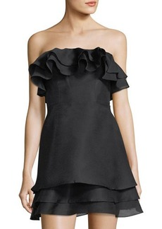 Keepsake Float Ruffled Mini Dress
