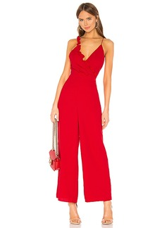 keepsake Forget You Jumpsuit In Cherry