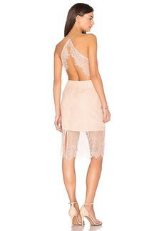 keepsake Great Love Lace Dress in Pink. - size L (also in M,S)