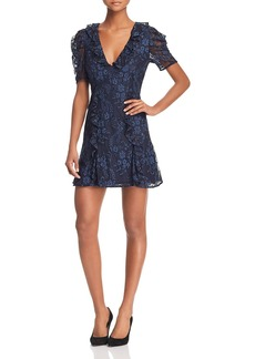 Keepsake Hold On Floral-Lace Dress