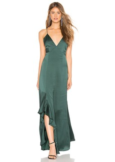 keepsake Infinity Gown In Forest Green
