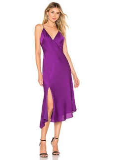 keepsake Infinity Midi Dress In Grape