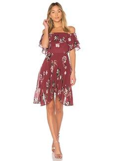 keepsake Last Dance Ruffle Mini Dress