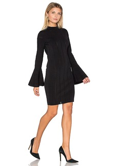keepsake Lighthouse Knit Long Sleeve Dress in Black. - size S (also in XS)