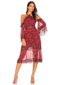 keepsake Moonlight Midi Dress in Red. - size S (also in XXS, XS,M,L)