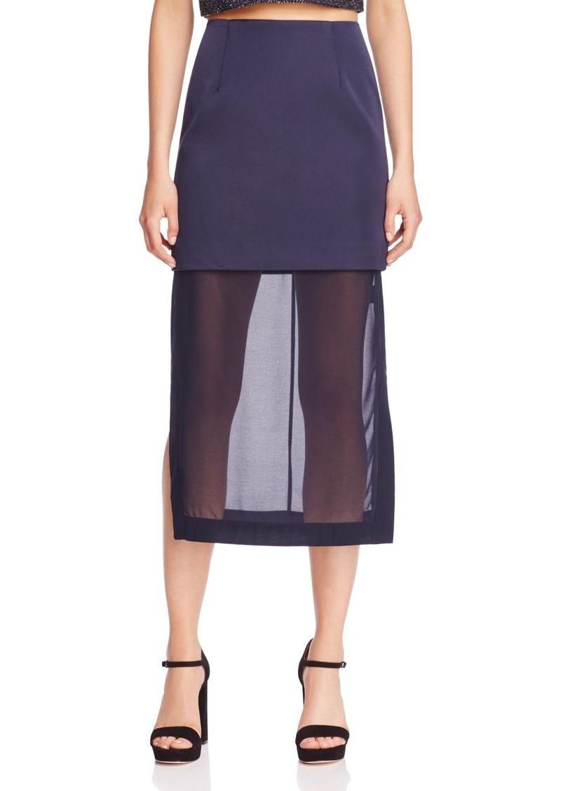 Keepsake Northern Lights Sheer Hem Midi Skirt