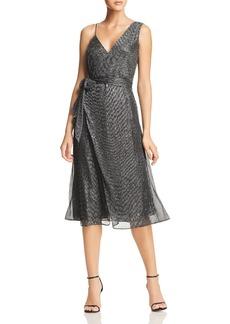 Keepsake Now and Then Asymmetric Metallic Dress