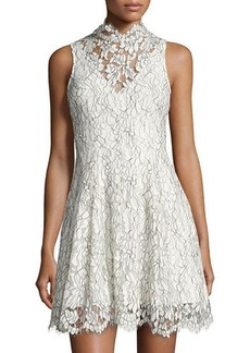 Keepsake Porcelain Fit & Flare Lace Dress