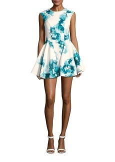 Keepsake Printed Fit-And-Flare Crewneck Dress