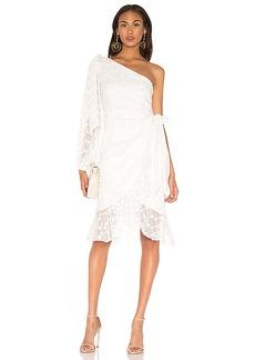 keepsake Retrospect Midi Dress In Ivory
