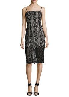 Keepsake Rhythm Lace Sheath Dress