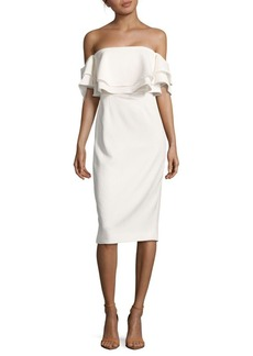 Keepsake Serenity Off-The-Shoulder Dress