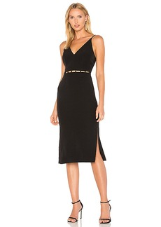 keepsake Signals Midi Dress in Black. - size M (also in S,XS, XXS)