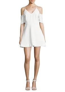 Keepsake Solid Cold-Shoulder Dress