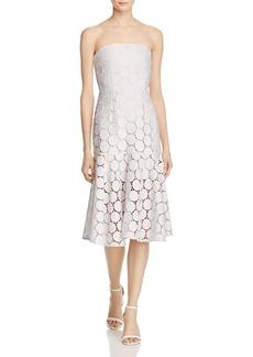 Keepsake Spectrum Strapless Lace Dress
