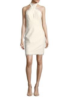 Keepsake Sublime Scalloped Halter Dress