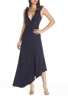 Keepsake the Label Abound Plunging Asymmetrical Evening Dress