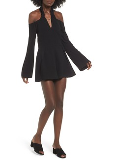 Keepsake the Label Darkest Light Off the Shoulder Romper