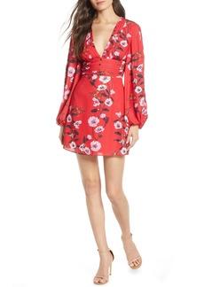 Keepsake the Label Darkness Floral Long Sleeve Minidress