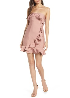 Keepsake the Label Daybreak Ruffle Strapless Minidress