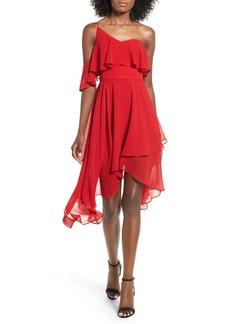 Keepsake the Label Downtown One-Shoulder Chiffon Dress