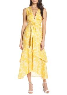 Keepsake the Label Fallen Linen Tea Length Dress