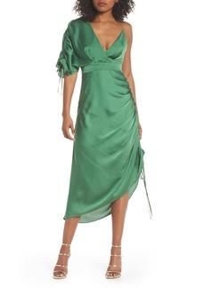 Keepsake the Label I've Got You Asymmetrical Satin Dress
